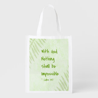Nothing Shall Be Impossible Palm Reusable Grocery Bag