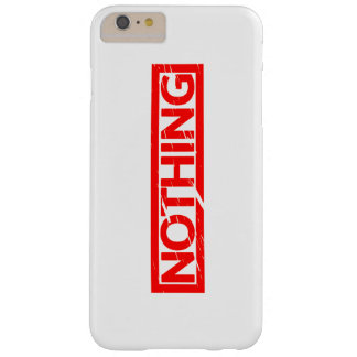 Nothing Stamp Barely There iPhone 6 Plus Case