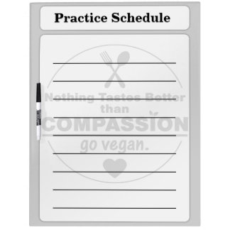 Nothing Tastes Better Than Compassion Go Vegan Dry Erase Boards