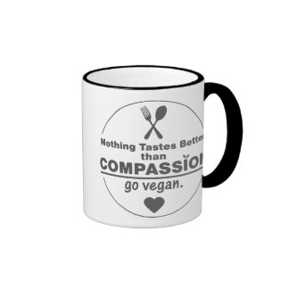 Nothing Tastes Better Than Compassion Go Vegan Mugs