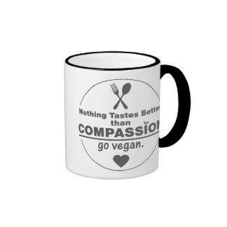 Nothing Tastes Better Than Compassion Go Vegan Ringer Mug
