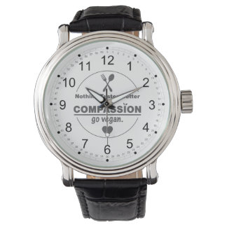 Nothing Tastes Better Than Compassion Go Vegan Wrist Watch