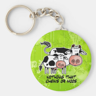nothing that chews or moos basic round button key ring