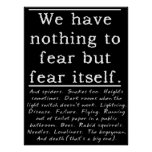 Nothing To Fear ? Funny Print Poster Humour