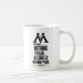 Nothing to Fear - Nothing to Hide Basic White Mug