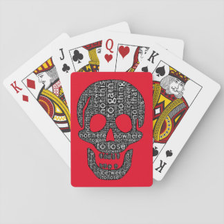Nothing to gain/lose, not this/that, in between poker deck