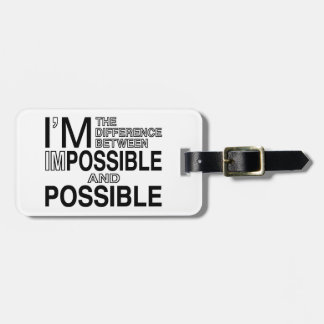 Nothings Impossible Bag Tags