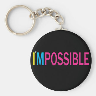 Nothing's Impossible Basic Round Button Key Ring