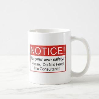 Notice / Consultant Basic White Mug