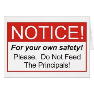 Notice / Principal Card