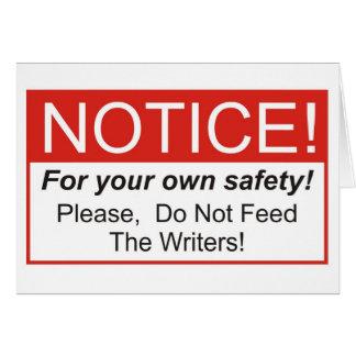 Notice / Writer Card