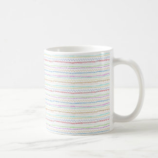 Notions, Stitch sampler. water coloured embroidery Coffee Mug
