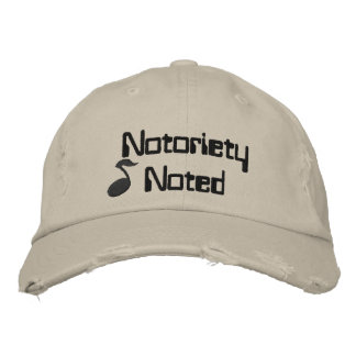 Notoriety Noted Music Embroidered Hat