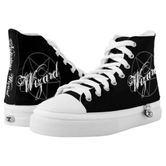 Notorious Wizard Witch Gothic Warlock Pentagram High Tops