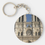 Notre Dame Cathedral in Paris Basic Round Button Key Ring