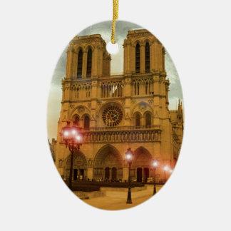 Notre Dame Ceramic Oval Decoration