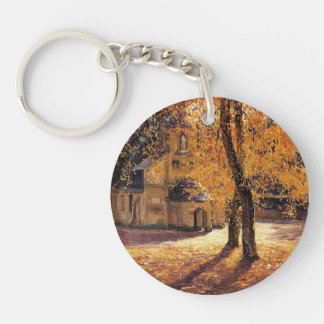 Notre Dame de Grace, Honfleur by Guy Rose Single-Sided Round Acrylic Key Ring