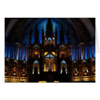 Notre Dame de Montreal interior Card