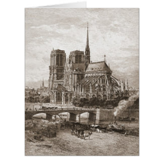 Notre Dame de Paris 1867 Big Greeting Card