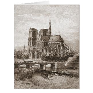 Notre Dame de Paris 1867 Card