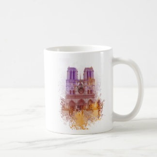 Notre Dame de Paris Basic White Mug