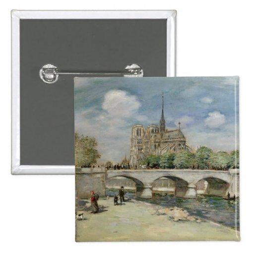Notre Dame de Paris, c.1900 Button