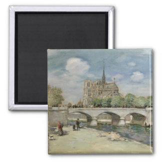Notre Dame de Paris, c.1900 Fridge Magnet