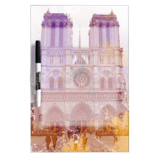 Notre Dame de Paris Dry Erase Board