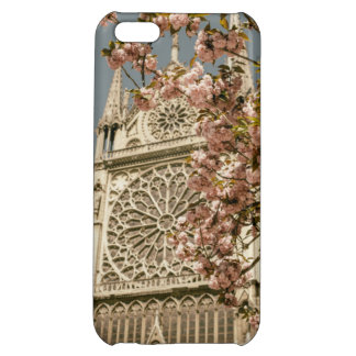 Notre Dame de Paris in Pink Spring Flowers Case For iPhone 5C