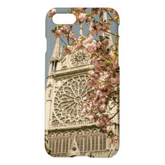 Notre Dame de Paris in Pink Spring Flowers iPhone 7 Case