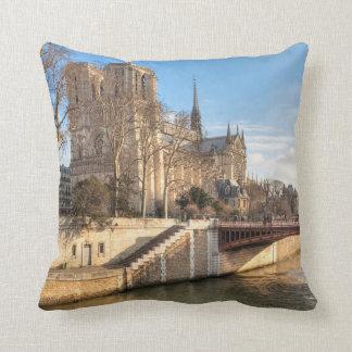Notre Dame de Paris In The Winter Sun Cushion