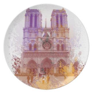 Notre Dame de Paris Party Plate