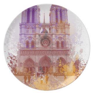 Notre Dame de Paris Dinner Plates