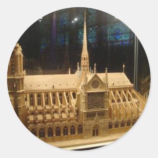 Notre Dame de Paris Round Sticker