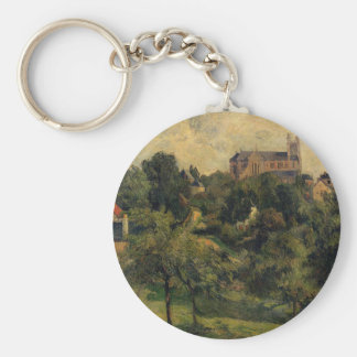 Notre Dame des Agnes by Paul Gauguin Basic Round Button Key Ring