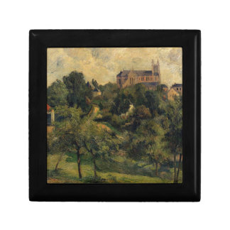 Notre Dame des Agnes by Paul Gauguin Small Square Gift Box