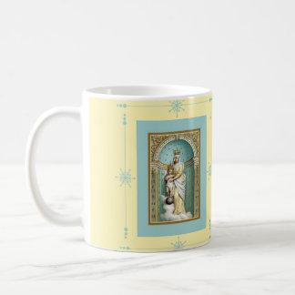Notre Dame des Victoire w/Jesus Coffee/Te Basic White Mug