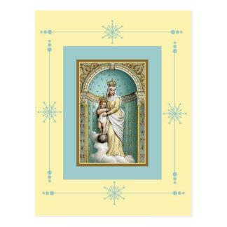 Notre Dame des Victoire with Jesus Postcard