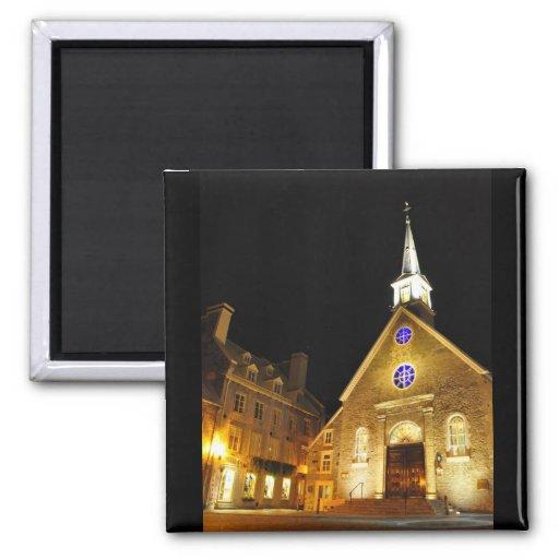 Notre Dame des Victoires Church Quebec Magnet