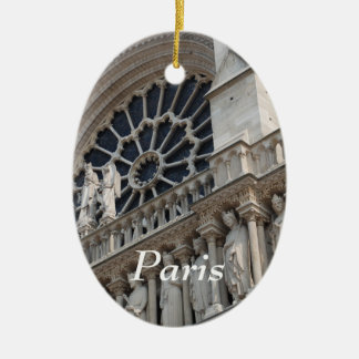 Notre Dame detail Ceramic Ornament
