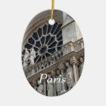 Notre Dame detail Christmas Tree Ornament
