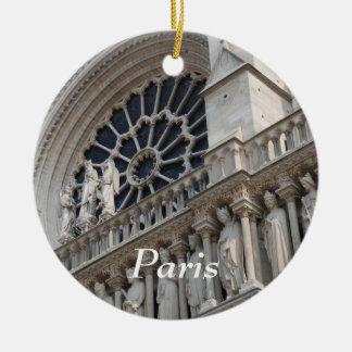 Notre Dame detail Round Ceramic Decoration