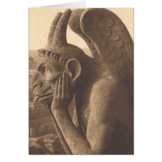 Notre Dame Gargoyle Circa 1900 Card
