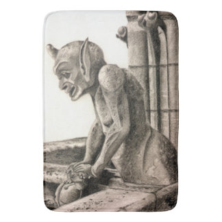 Notre Dame Gargoyle - The Watcher Bath Mats