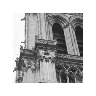 Notre-Dame in Black and White Canvas Print