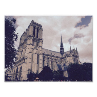 Notre Dame in Paris Poster