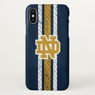 Notre Dame | Jersey Pattern iPhone X Case