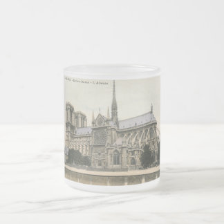 Notre Dame, Paris Vintage Frosted Glass Coffee Mug