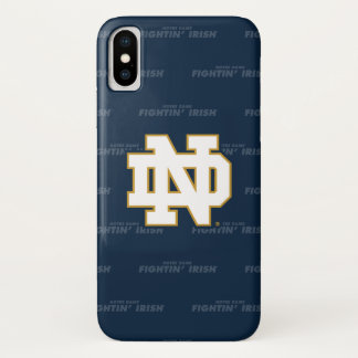 Notre Dame | Repeating Pattern iPhone X Case
