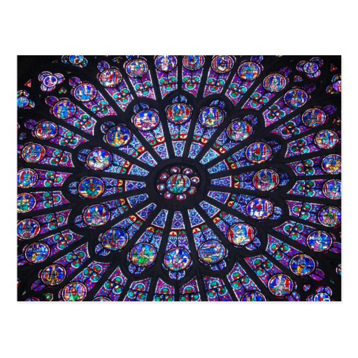 Notre Dame Rose Window Post Card
